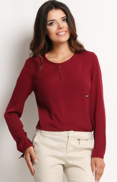 bordowa bluzka damska