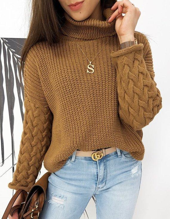 modny sweter damski na zimę