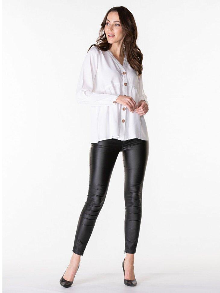 klasyczna biała koszula damska stylizacja