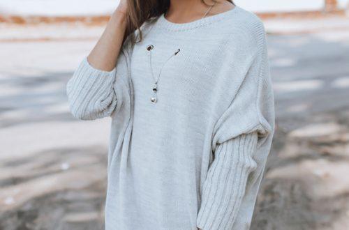 szary jesienny sweter damski Stephan Dstreet